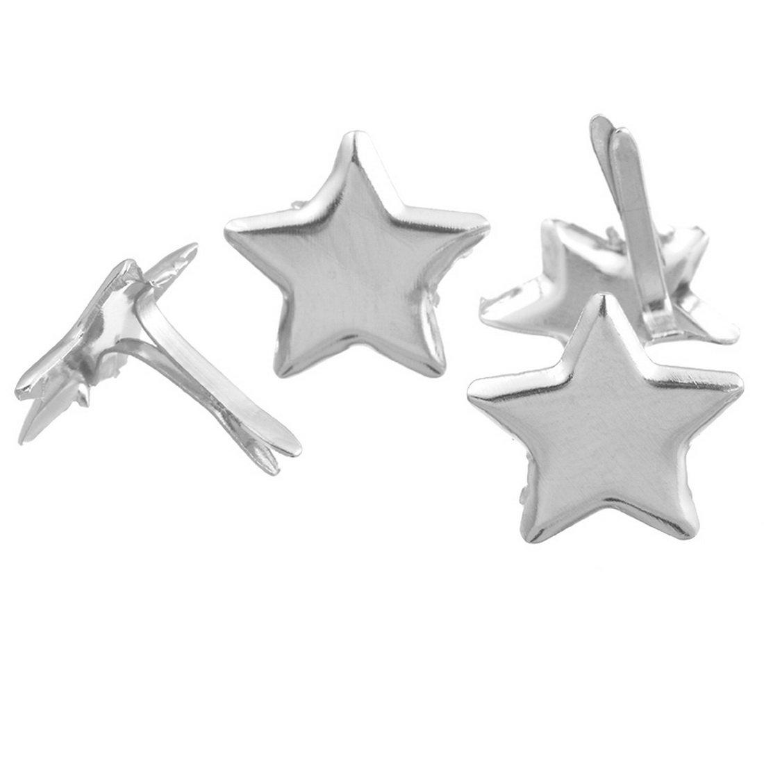 Loweryeah Star Shaped Mini Brads for DIY Scrapbooking Embellishment Pack of 50pcs