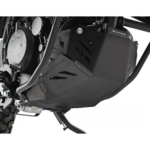 SW-MOTECH Aluminum Skid Plate Engine Guard for Kawasaki KLR650 '08-'17 - Black