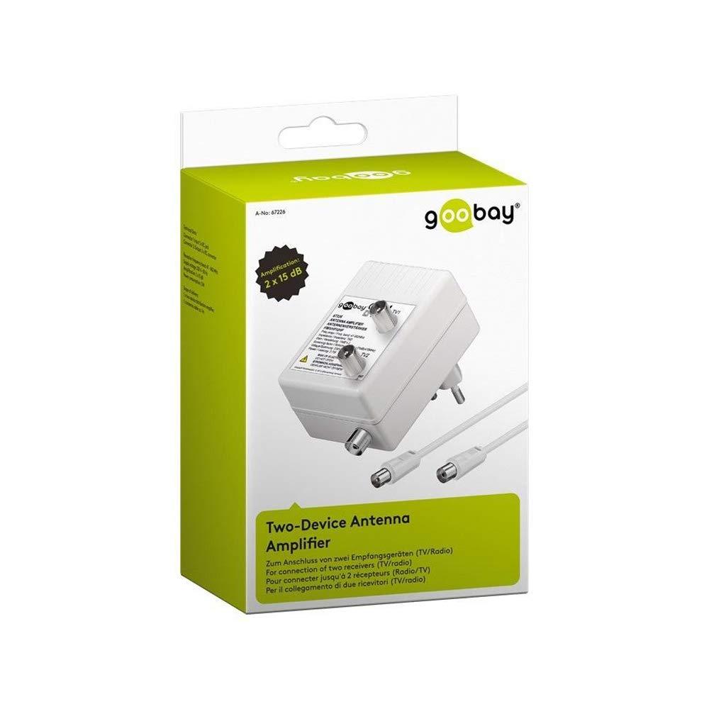 Wentronic 67226 3 W, 230 V, 50 Hz Amplificador de antena blanco