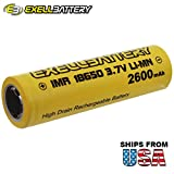 3.7V IMR 18650 LiMN Rechargeable 2600mAh Battery SAFER CHEMISTRY For Security Systems, Lighting, Digital Calipers, Measuring Tools, Pathway Lights, Cree LED Flashlights