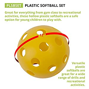 Champion Sports Plastic Softball Set, 6 Assorted Colors