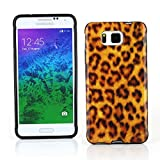 Kit Me Out CAN TPU Gel Case for Samsung Galaxy Alpha G850F - Black / Brown Leopard