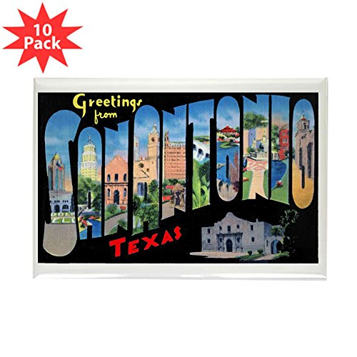 (CafePress - San Antonio Texas Greetings Rectangle Magnet (10 P - Rectangle Magnet, 2