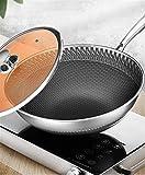 Wok, 304 stainless steel wok Pan Non-smoking wok