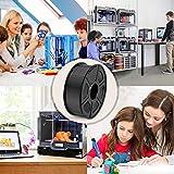 PLA 3D Printer Filament, SUNLU PLA Filament 1.75mm, Dimensional Accuracy +/- 0.02 mm, 1 kg Spool, 1.75mm, PLA Black