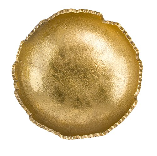 Red Co. Gold Moon Decorative Torn Hammered Centerpiece Bowl, 9 Inches