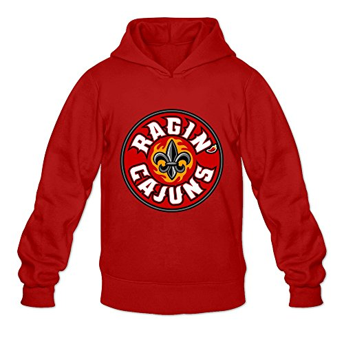 Louisiana Lafayette Ragin' Cajuns Ambom 100% Cotton Hoodies For Boyfriend Red Size (Halloween City Lafayette)