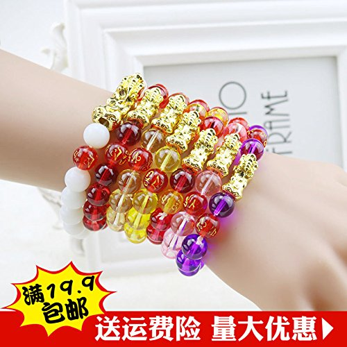 Mantra golden stained glass bracelet brave female Korean imitation garnet lap bracelets wholesale jewelry