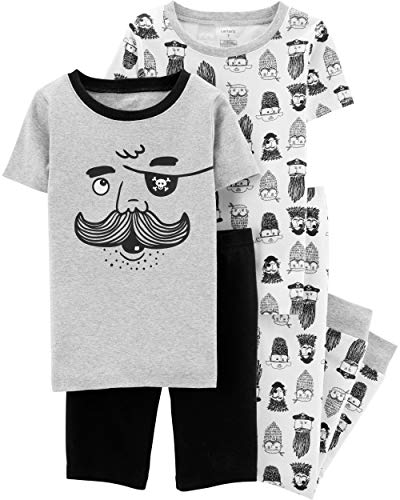Carter's Boys Snug Fit Cotton PJs Pajamas (Heather Pirate, 4)]()