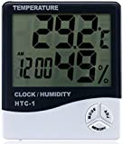 Jooks Electronic LCD Screen Digital Temperature Humidity Meter Thermometer with Alarm Clock Function