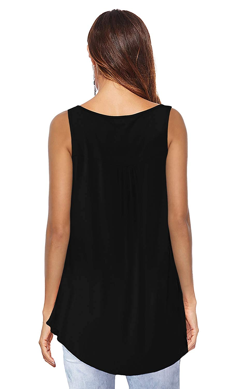Women Casual Button Long Blouse T-Shirt Tank Tops Loose V neck Short Sleeve Top