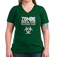 CafePress CDC Zombie Apocalypse Respons Women's V-Neck Dark Women's V-Neck Dark