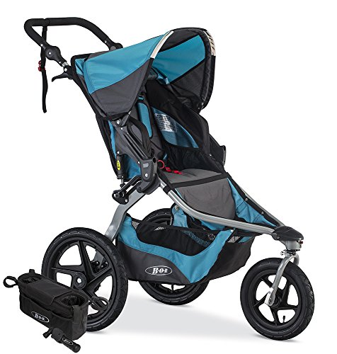 BOB Revolution Flex Jogging Stroller, Lagoon with Handlebar