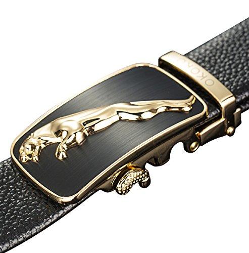 [OKOKO fashion men's alloy Ratchet belt buckle automatic buckle (3.5cm width) (style 1)] (Changeable Buckle)