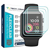 three bond plastic repair kit - Tech Armor [Wet Applied] Thermoplastic Film (TPU) Screen Protector for Apple Watch 42mm, Complete Curved Edge Display Coverage, Bubble Free, HD Clear [3-pack]