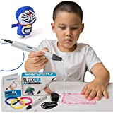 3D Filament Printer Pen for Adults and Kids | 3D Printing Doodler Pen| Speed & Temperature Controls | Create Crafts, Sketches, Doodles, Displays, Sculptures, Colors, Scribbler | Easy to Use & Refill