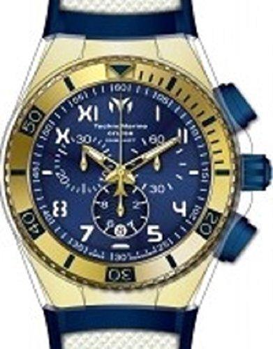 Gold 14k Watch Quartz - Technomarine Men's 'Cruise California' Swiss Quartz Stainless Steel Casual Watch (Model: TM-115010)