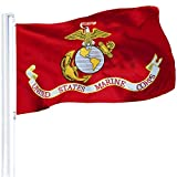 Size:3 x 5 Ft. Made From Deluxe Heavyweight 100D Polyester Grade. Printed with Double-Needle Lockstitch with 4 Rows on the Fly Hem. Heavy Duty Polyester Canvas Heading with Two Solid Brass Grommets. This Durable Flag can be displayed either indoors o...