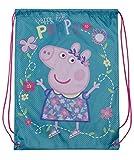 Peppa Pig Drawstring Bag 2 Bags Pack Children Travel Gym Backpack Kids Gift Sack