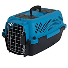 Petmate 21087 21087 Pet Taxi Fashion Dog Crate, Small (Blue Air/Coffee Grounds Brown)
