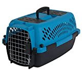 Aspen Pet Pet Porter Plastic Kennel, Up to 10 Pounds, Blue Air/Coffee Grounds Brown