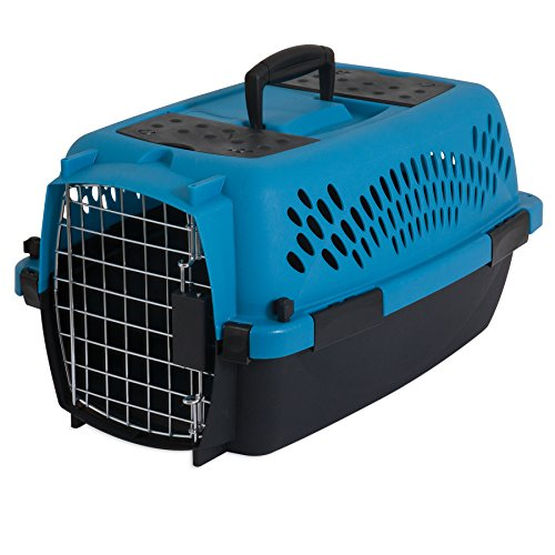 Aspen Pet Pet Porter Plastic Kennel, Up to 10 Pounds, Blue Air/Coffee Grounds (Case Direct Vent)