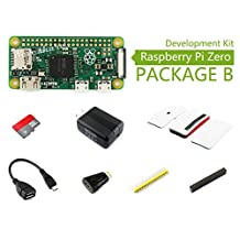 Raspberry Pi Zero V1.3 1GHz CPU 512MB Pi 0 Package B Basic Development Kit Micro SD Card, Power Adapter, Official Case, Basic Components