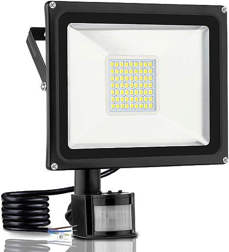 10W-100W LED Floodlight PIR Sensor Outdoor Security Light Garden Warm//Cool White