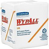 Kimberly-Clark Professional WYPALL L40 Cloth-Like 1/4-fold Wipes, 12-1/2 x 13, 1000/carton (05701)