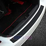 Rear Bumper Protector,EJ's SUPER CAR Rear Bumper Guard Rubber and Rear Guard Bumper Protector ,Prevent Scratches While Unloading and Loading For fits most cars,Easy D.I.Y. Installation(35.8 inch)