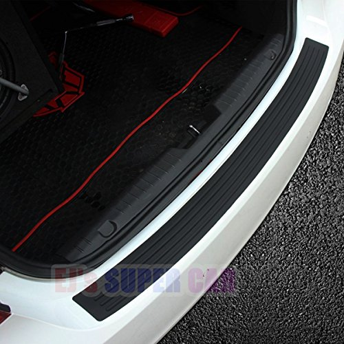 (EJ Super CAR Rear Bumper Protector Guard Universal Black Rubber Scratch,Resistant Trunk Door Entry Guards Accessory Trim Cover for SUV/Cars,Easy D.I.Y. Installation(35.8Inch))