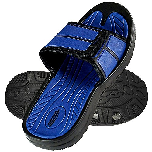 73122b3f3 Ingear Men s Slides Slip Shoes Sandals Slipper Comfortable Shower Beach Flip  Flop Flats