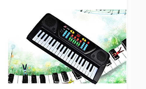 Kids Piano, YIFAN 37 Key Electronic Keyboard Musical Toy with Mic for Children – Black