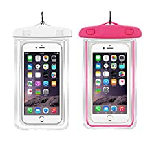 2Pack Blue+2Pack pink Universal Waterproof Phone Case Dry Bag CaseHQ for iPhone 4/5/6/6s/6plus/6splus Samsung Galaxy s3/s4/s5/s6 etc. Waterproof, Snow Proof Pouch for Cell Phone up to 5.7 inches¡