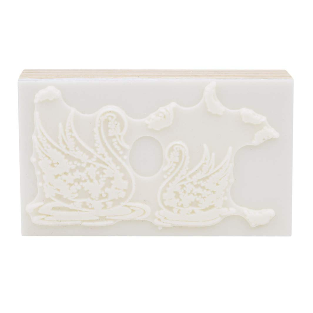 YouCY Craft Wooden Rubber Stamp Toy Scrapbooking Stationery, DIY Craft, Cute Forest Theme DIY Craft Albums Diary Decoration Retro rune Wood Stamp Scrapbook,Swan by YouCY (Image #4)
