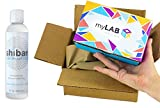 myLAB Box Bundle - Chlamydia/Gonorrhea/Trich/HIV Mail-In Test Kit (FEMALE, Lab-Certified Results in 3-5 days) + Shibari Intimate Lubricant (water-based, 8oz)