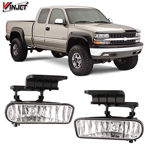 Winjet WJ30-0125-09 OEM Series for [1999-2002 1500/2500] [2001-2002 Silverado 3500] [2000-2006 Suburban/Tahoe] Driving Fog Lights