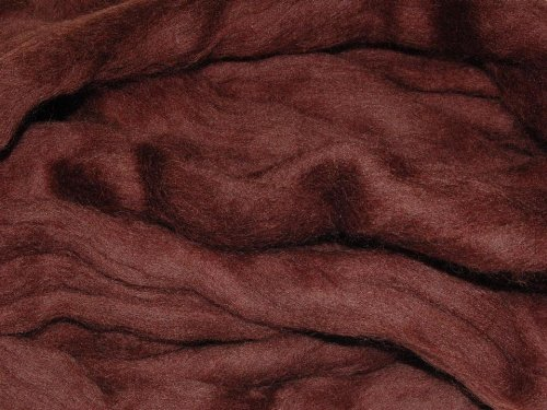 Dark Brown merino wool roving/tops - 50gm. Great for wet felting / needle felting, and hand spinning projects. The Wool Barn