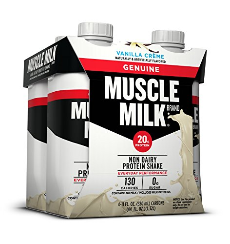Muscle Milk Genuine Protein Shake, Vanilla Crème, 20g Protein, 11 FL OZ,(Pack of - Muscle Milk Banana Light