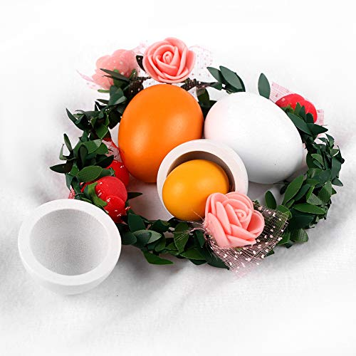 StillCool 6pcs Wooden Easter Eggs Yolk Pretend Children Play Kitchen Game Food Kids Toy