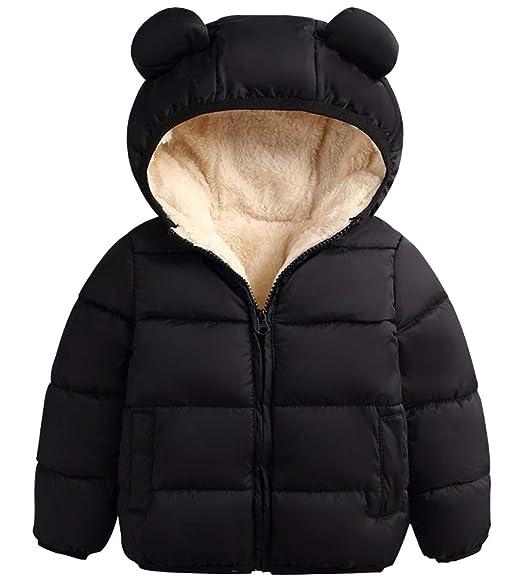 12M 4Y ARTMINE Baby Boys /& Girls Down Alternative Winter Warm Hoodie Jacket