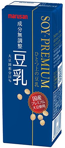 Marsan Soi premium one on soy milk component unadjusted 200ml X 24 this by One on soy milk
