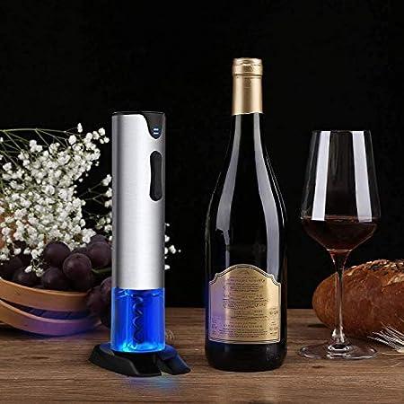 YFGQBCP Cortador automático Sacacorchos eléctrico y Papel Remover, abridor de Botellas de Vino de un Toque con la batería Recargable y Cargador de