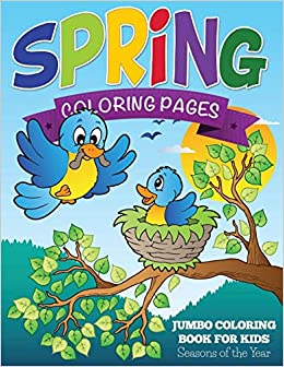 Spring Coloring Pages Jumbo Coloring Book For Kids
