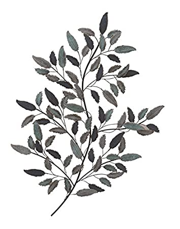 Deco 79 95264 Metal Leaf Wall Decor, 31u0026quot; ...