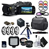 Canon VIXIA HF G40 Full HD Camcorder 1005C002 - Advanced Bundle - With Rode VmGo Mic, Extra Battery, Charger, Tripod Case and More.