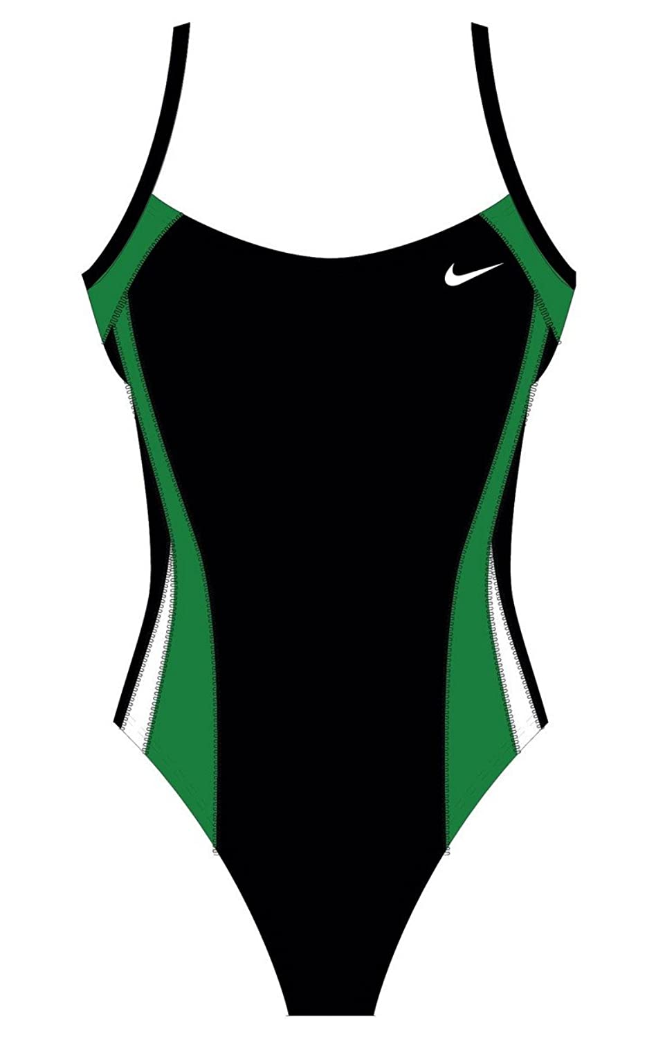 10c5f9445af Nike Women's Poly Color Surge Cut Out Tank Swimsuit 30 Black free shipping