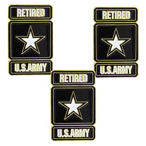 US Army Retired Lapel Pin (3 PK)