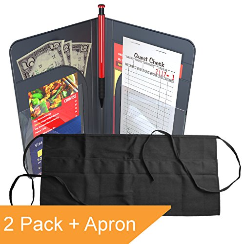 Waiter Book Server Wallet Server Pads Waitress Book Restaurant Waitstaff Organizer, Guest Check Book Holder Money Pocket by Gold Lion Gear (Image #1)'