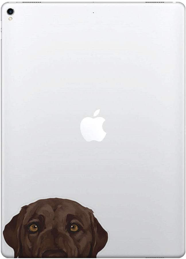 FINCIBO 5 x 5 inch Chocolate Brown Labrador Retriever Dog Removable Vinyl Decal Stickers for iPad MacBook Laptop (Or Any Flat Surface)